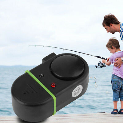 Electronic LED Light Fish Bite Sound Alarm Bell Clip On Fishing Rod New DP