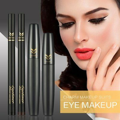 Liquid Eye Liner Pen Set With 3D Thicken Lengthen Mascara Beauty Cosmetic ToolDP