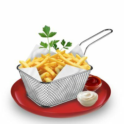 Stainless Steel Chef Basket Mini Fry Baskets Fryer CookinR French Fries BasketDP