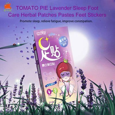 TOMATO PIE Lavender Sleep Foot Care Herbal Patches Pastes Feet Stickers DP