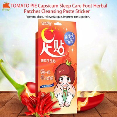 TOMATO PIE Capsicum Sleep Care Foot Herbal Patches Cleansing Paste Sticker DP