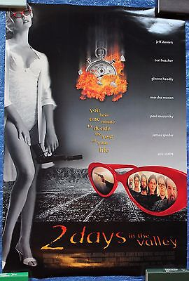 2 DAYS IN THE VALLEY Poster Original Movie Theater 2 Sided 40 x 27 Jeff Daniels