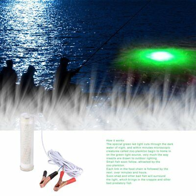 12V 104 LED Green Underwater Night Fishing Light Lamp Fishing Lure Lights DP