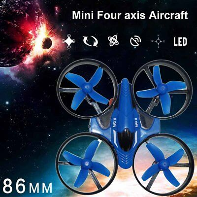 4 Axle Aircraft Remote Control Aircraft LED One Button Return Headless Mode DP