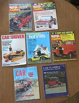 Vintage car magazines 1970,1971 lot of 7