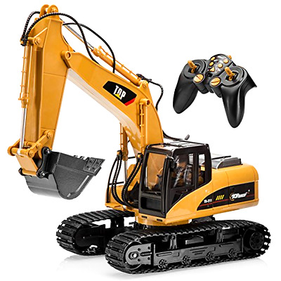 RC Excavator Toy Vehicle Kit Top Race® 15 Channel Full Functional Professional