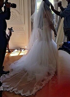 Wedding veil with comb bridal cathedral style 2 Tier 126inch