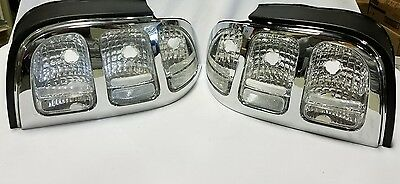 NEW 94-98 Ford Mustang Clear Tail Lights - Set (2 pieces-Left&Right)