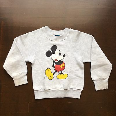 Vintage Gray Mickey Mouse Sweatshirt Youth Medium Made In USA