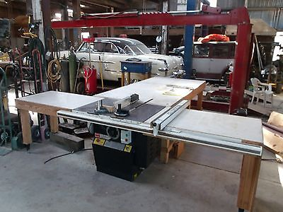 "10"" Dayton 2 HP single phase table saw with Biesemeyer fence & large tables"