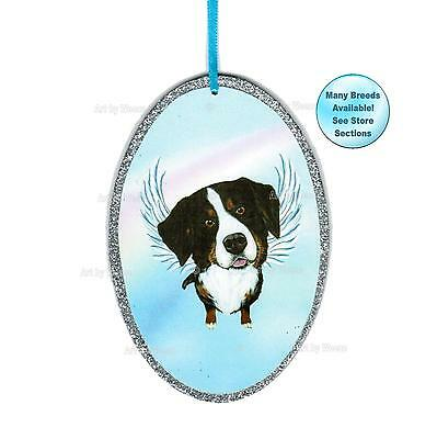 Bernese Mountain Dog Angel Ornament Dog Memorial Mountain Dog With Angel Wings