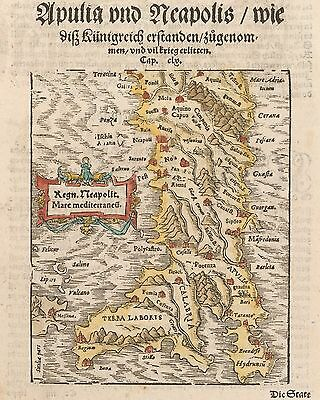 1572 Map of Italy