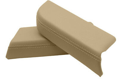 Door Panel Armrest Leather Synthetic Cover for Honda Pilot 09-15 Beige