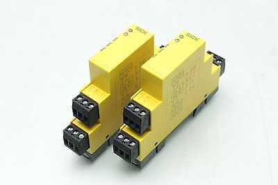 2 SICK UE10-2FG3D0 Safety Relays / 24VDC / 10ms Response Time / DIN Rail / OSSD