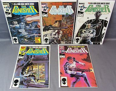 THE PUNISHER #1 2 3 4 5 (Complete Limited Series) NM High Grade Marvel 1985