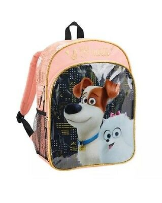 """SECRET LIFE OF PETS /"""" I LOVE MUTTS/"""" LARGE 16 /"""" COLORFUL BACKPACK NEW WITH TAGS"""