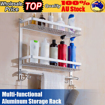 Triple Basket Soap Towel Holder Bathroom Toilet Wall Mount Storage Holder Shelf