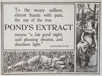 Antique 1898 Ad (1800-17)~Pond's Extract For Pain Sufferer's