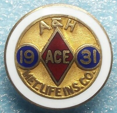 1931 Metropolitan Life Insurance Accident & Health A & H Pin By Whitehead & Hoag