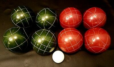 Vintage Classic Sport Bocce Ball Set Turf Or Lawn Game