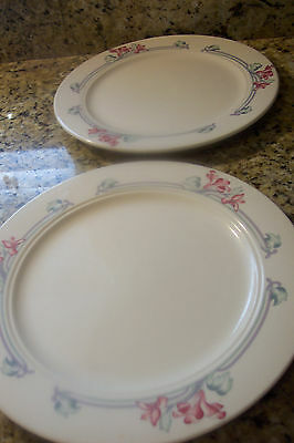 Homer Laughlin China Seville Usa Dinner Plates Set Of 2 Mult Color