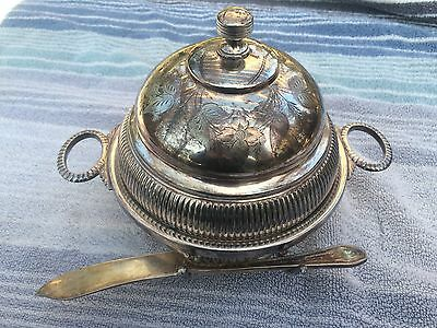 Antique silver plate  E.G Webster Bro NY USA  Cheese,Butter Dish,Dome victorian