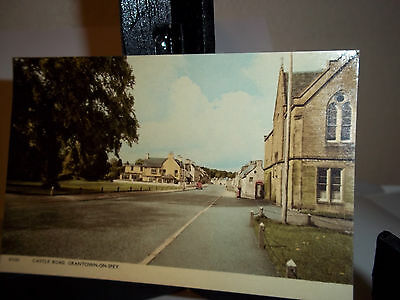 Vintage Postcard Scotland Castle Road Grantown-on-Spey Uncirculated