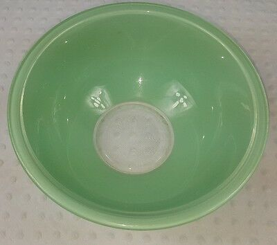 Vintage Corning Pyrex Jadite Green Clear Bottom Glass Mixing Nesting Bowl