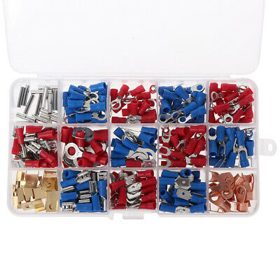 300Pcs Assorted Electrical Wire Terminals Set Insulated Crimp Connector Kit