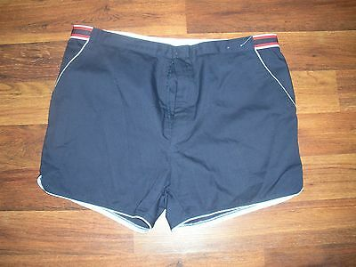 NWOT Mens Tennis TRAVIS CUP Shorts Sz 38 Running Vtg 70s 80s Navy Blue #1700