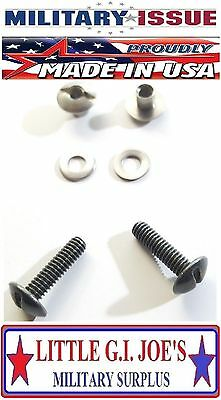 Military Issue PASGT Kevlar Helmet Chinstrap Hardware Kit 2-Screws, 2-Post & Was