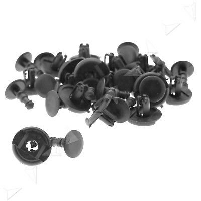 20 Pcs Plastic ABS Panel Trim Push in Clips Rivet Fastener 7mm Hole for Toyota