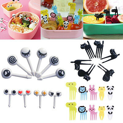 6/10Pcs Bento Cute Food Fruit Picks Forks Lunch Home Kitchen Supply Decor