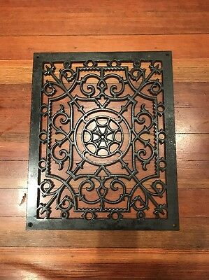Antique Wall/Floor Register Cover Old Victorian Design Beautiful Piece Gift Art