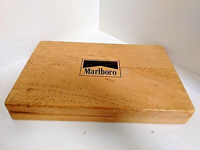 Marlboro Poker Chip Card Set In Wooden Box - Very Nice!!!