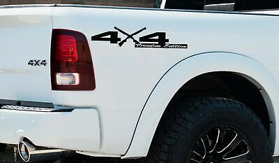 4X4 Rebel Edition Shotgun Vinyl Decal fit Dodge Trucks 2006-2017 1500 2500 3500