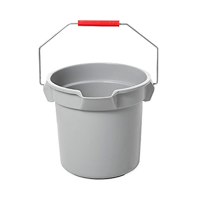 Brute Bucket Rubbermaid Commercial 14 Quart Gray With Sturdy Handle and Spout