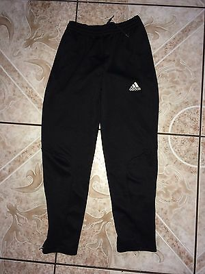 Kid's Adidas Climalite Pants Size S Small Black Polyester Fitness Running Gym