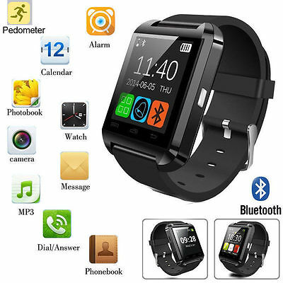 Bluetooth Smart Wrist Watch Phone Mate For IOS Android iPhone Samsung Sale