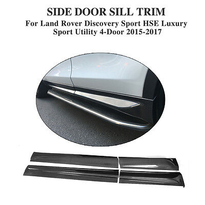 Carbon Side Skirt Door Line Sill Trim Fit For Land Rover Discovery Sport 15-17
