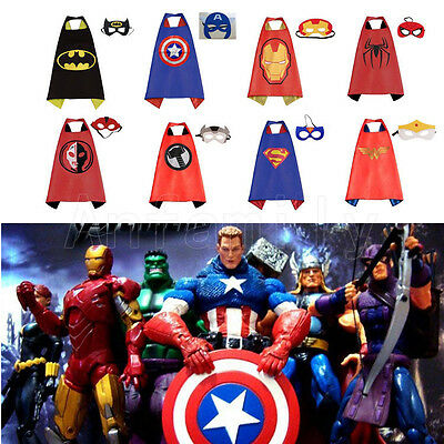Superhero Cape for kids birthday party favors and ideas (1 cape+1 mask) activity