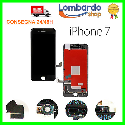 Display Schermo Iphone 7 Nero Per Apple Touch Screen Lcd Retina Frame Vetro 7G