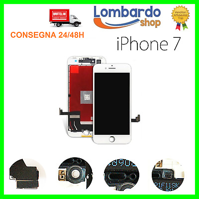 Display Lcd Vetro Touch Per Apple Iphone 7 Schermo 7G Originale Tianma Bianco