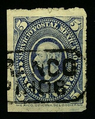 Mexico Stamp #163, 5 Ctvs, Blue, Nice Stamp with Cancel