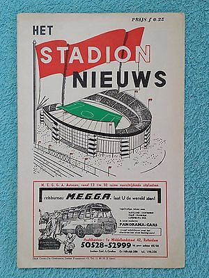 1963 CUP WINNERS CUP FINAL PROGRAMME - ATLETICO MADRID v TOTTENHAM - STADIUM ED