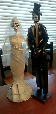 *Catrina Mexican Day of the Dead Dolls Bride & Groom about 15 inches Tall