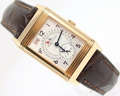 Herrenuhr Jaeger Lecoultre Jlc 18Ct Rg Reverso Grande Taille Day-Date 270.2.36