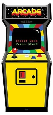 Video Arcade Game 1980's Colour Lifesize Cardboard Cutout / Standee / Standup