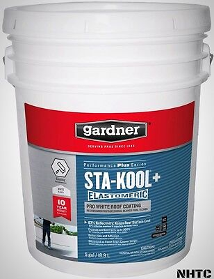 Elastomeric Roof Coating 5 Gal. Sta-Kool+ RV Siliconized Acrylic White Gardner