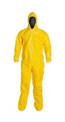 Dupont QC122 Tychem Tyvek Coverall, Chemical Resistant, Yellow, X-Large (1 Suit)